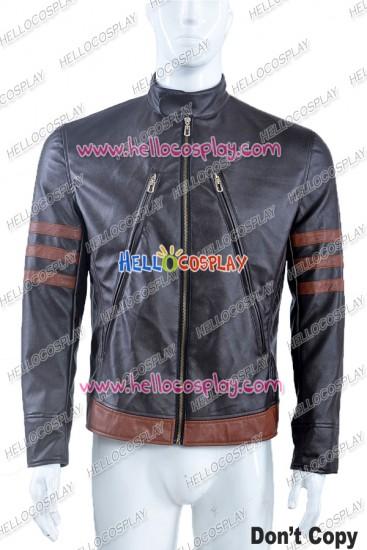 X-Men: Apocalypse Logan Jacket Cosplay Costume Dark Brown