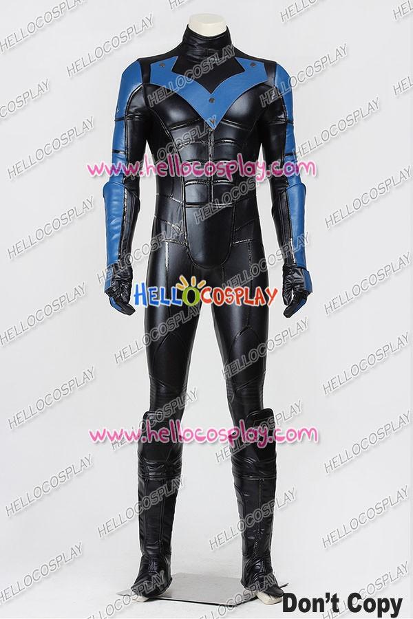 Batman Arkham City Nightwing Jumpsuit Cosplay Costume ... & Batman: Arkham City Nightwing Jumpsuit Cosplay Costume Uniform