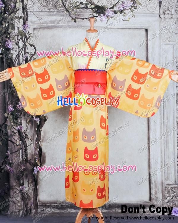 Vocaloid 2 Cosplay Project DIVA F Kagamine Len Costume Kimono Bathrobe