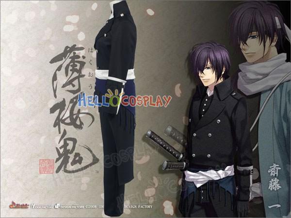 Saito Hajime Hakuouki Shinsengumi Kitan Cosplay Costume