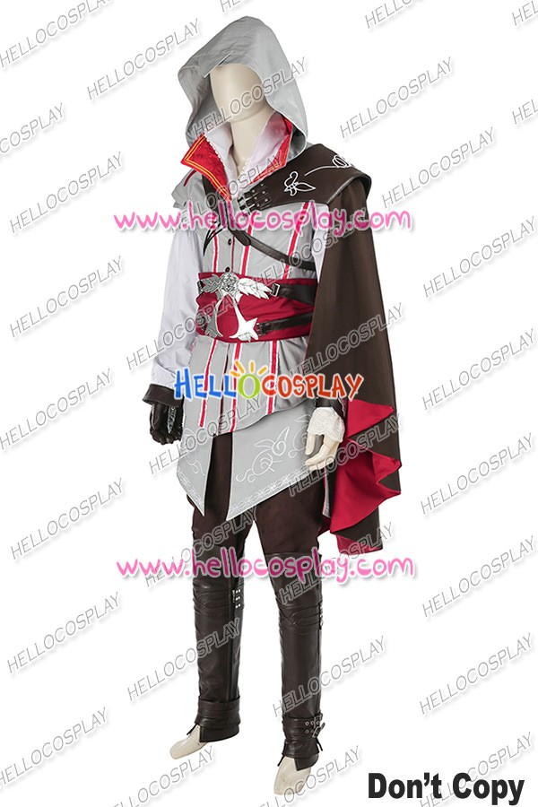 Assassin S Creed Ii Ezio Auditore Da Firenze Cosplay Costume White
