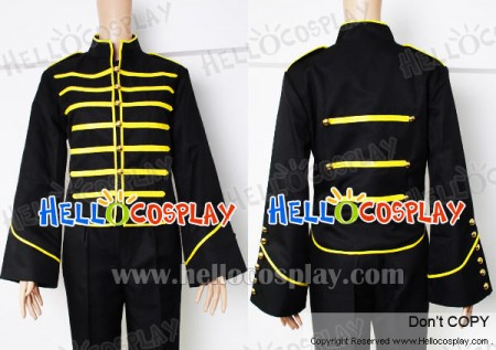 My Chemical Romance Costume Gold Parade Military Jacket