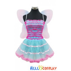 Angel Feather Cosplay Sweet Flower Fairy Dress Costume