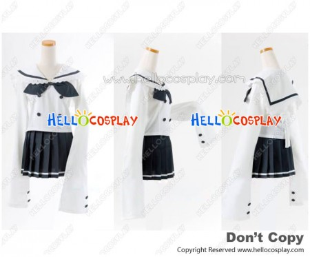Lucky Star Cosplay Akira Kogami Costume Gray Sailor Uniform New