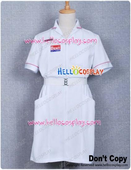 Batman The Joker White Nurse Costume Uniform Coat V2