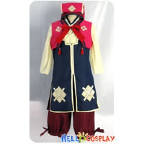 Monster Hunter 3rd Cosplay Nadesiko Uniform Costume Red Ver