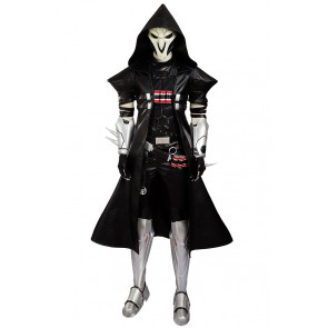 Overwatch Cosplay Reaper Costume Uniform