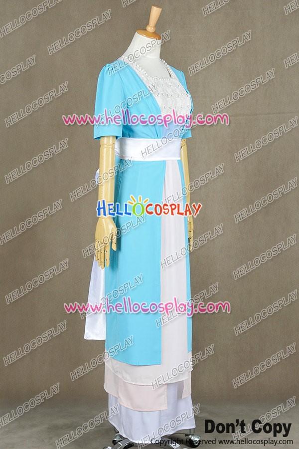 Titanic Cosplay Rose DeWitt Bukater Costume White Maiden Dress Uniform Suit New