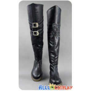 Final Fantasy VII 7 Cosplay Sephiroth Black Long Boots