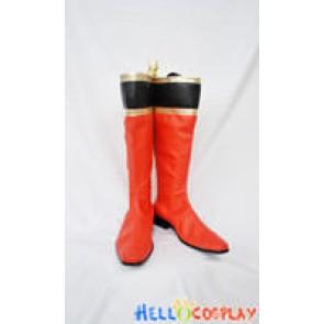 Tokusou Sentai Dekaranger Cosplay Red Boots New