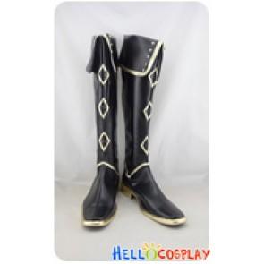 Touken Ranbu Cosplay Akashi Kuniyuki Black Long Boots