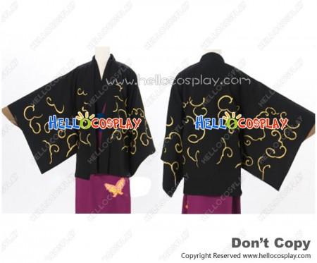 Gintama Silver Soul Cosplay Shinsuke Takasugi Costume Kimono