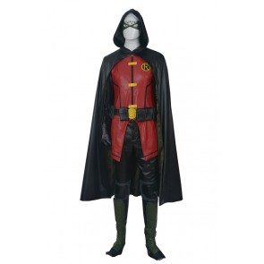 Young Justice Cosplay Robin Timothy Jackson Tim Drake Costume Uniform
