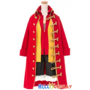 One Piece Cosplay Monkey D Luffy Zooty Red Costume Full Set