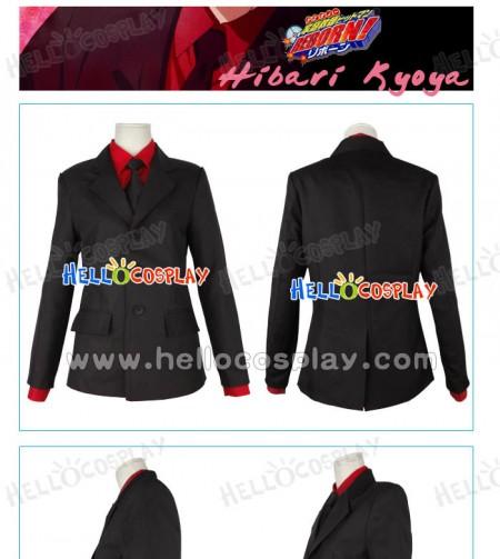 Katekyo Hitman Reborn Hibari Kyoya Cosplay Costume