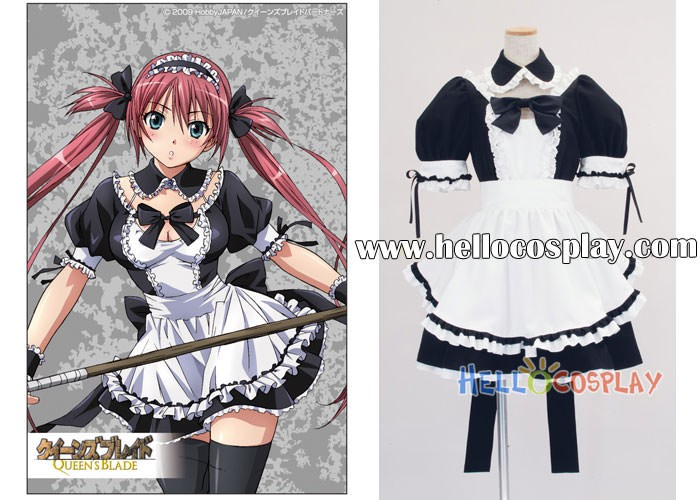 queen s blade cosplay maid dress