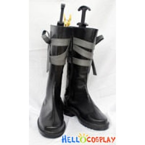 Tegami Bachi Letter Bee Cosplay Noir (Gauche) Boots