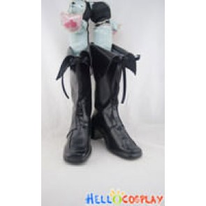 AKB0048 Cosplay Shoes Black Boots