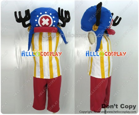 One Piece Cosplay Tony Tony Chopper Two Years Later Costume Blue Hat