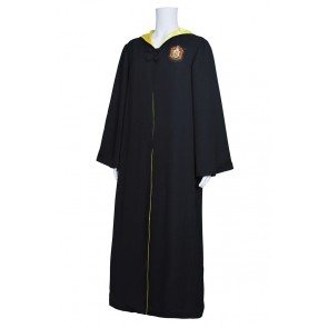 Harry Potter Costume Hufflepuff of Hogwarts Robe Coat Cape