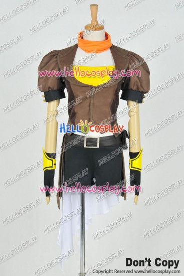 RWBY Cosplay Yellow Trailer Yang Xiao Long Costume Combat Uniform