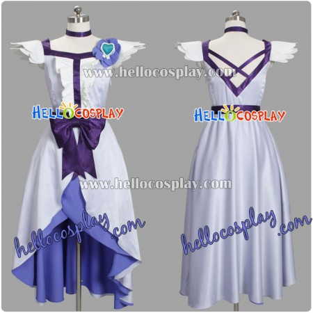 HeartCatch PreCure Cosplay Costume Yuri Tsukikage Cure Moonlight Dress