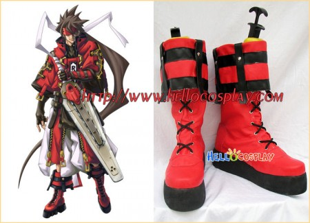 Guilty Gear XX Cosplay Sol Badguy Boots Red