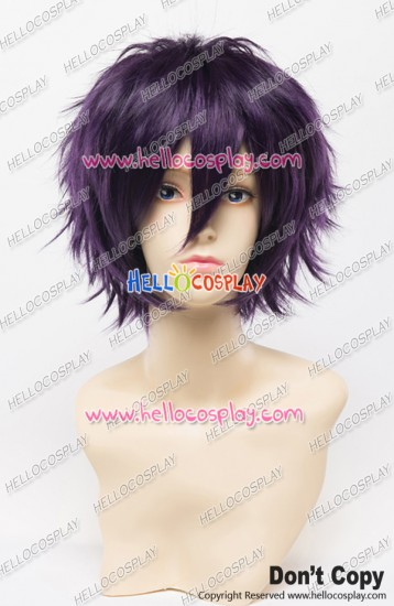 Wig 30CM Cosplay Purple Black Universal Short Layered