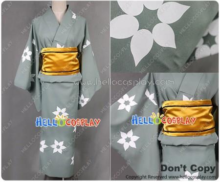 Nisemonogatari Cosplay Araragi Tsukihi Costume Kimono