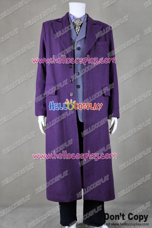 & Batman The Dark Knight The Joker Cosplay Costume Full Set