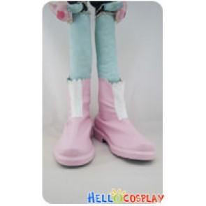 AKB0048 Cosplay Nagisa Motomiya Pink Short Boots