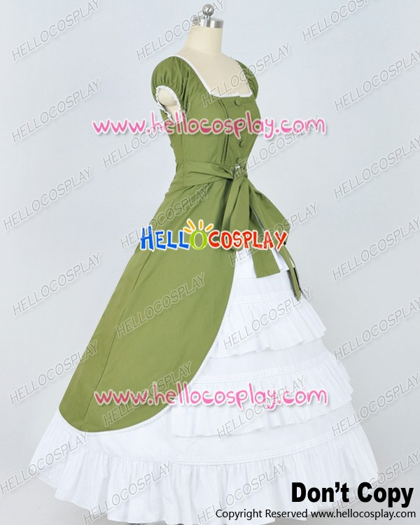 Colonial Cosplay Green Ball Gown Prom New Lolita Dress