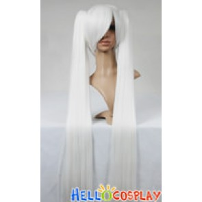 Vocaloid 2 Cosplay Hatsune Miku White Long Wig