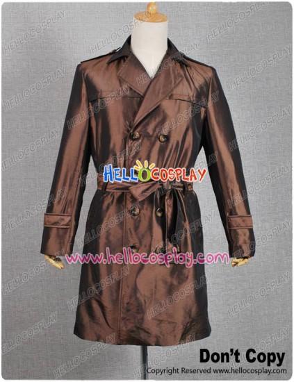 Watchman Costume Rorschach Trench Coat Brown