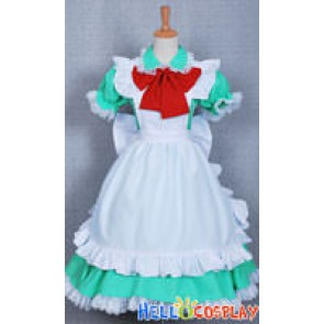 Axis Powers Hetalia Cosplay Italy Green Maid Dress