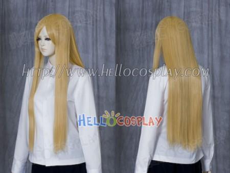 Light Goldenrod Medium Cosplay Wig