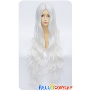 Kagerou Project Cosplay Shion Kozakura Wig Midsplit Long Curly White