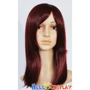 Dark Wine Red 45cm Cosplay Straight Wig