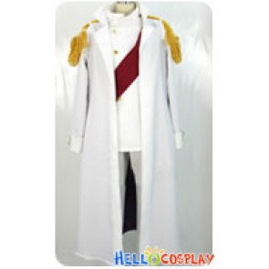 One Piece Warring States Buddha Cosplay Costume White Coat