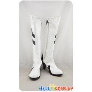 Neon Genesis Evangelion EVA Cosplay Shoes Rei Ayanami Boots White