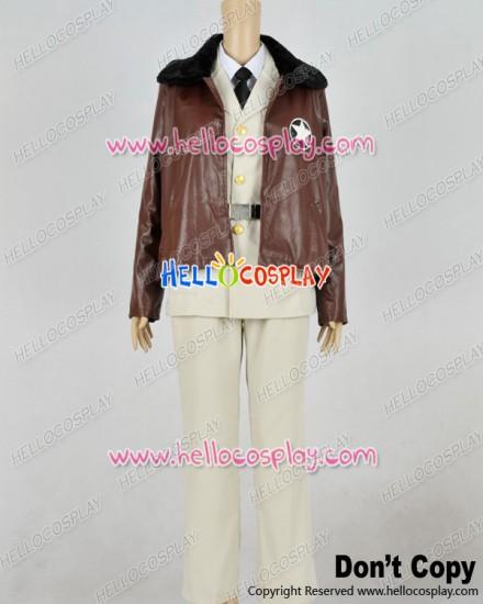 Axis Powers Hetalia APH Cosplay America Brown Beige Military Uniform Costume