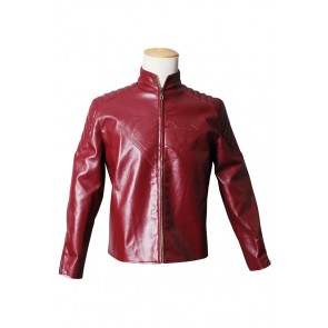Smallville Clark Kent Cosplay Red Leather Jacket Coat Costume