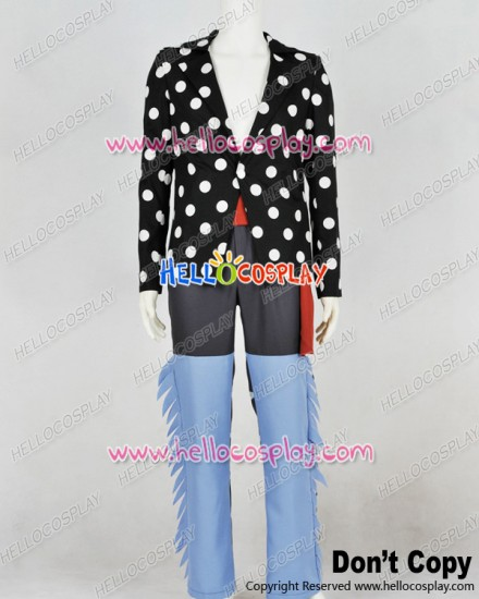 One Piece Cosplay Killer White Polka Dot Uniform Costume