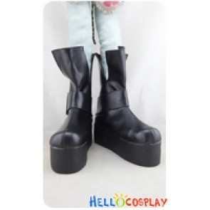 Angel Sanctuary Cosplay Shoes Short Boots Black Platform