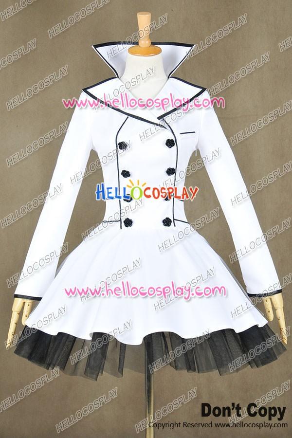 New RWBY Vol.4 White Weiss Schnee Cosplay Costume Dress