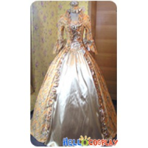 Victorian Lolita Reenactment Stage Antique Gothic Lolita Dress Maize Floral