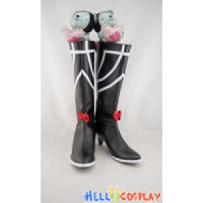 Phantasy Star Cosplay Shoes Black Boots