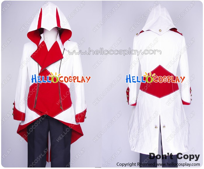 a4e219bb4 Assassin's Creed III Connor Jacket Cosplay Costume White Red