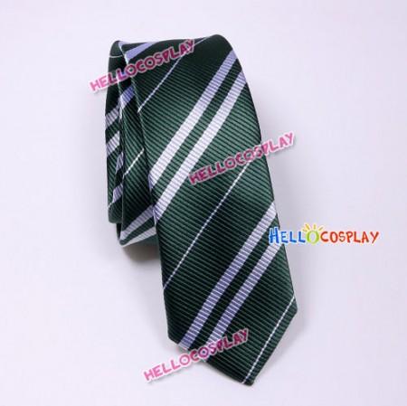 Harry Potter Slytherin Green & Silver Tie Vintage Silk