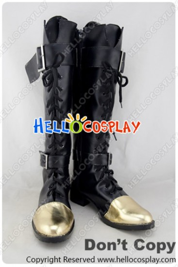 League Of Legends Cosplay Kate Black Long Boots